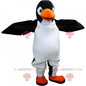 Sehr realistisches riesiges Schwarz-Weiß-Pinguin-Maskottchen -