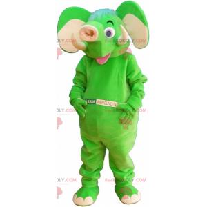 Neon green elephant mascot - Redbrokoly.com