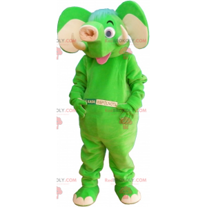 Neongrünes Elefantenmaskottchen - Redbrokoly.com