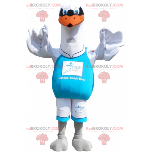 Mascot big white seagull. Bird costume - Redbrokoly.com