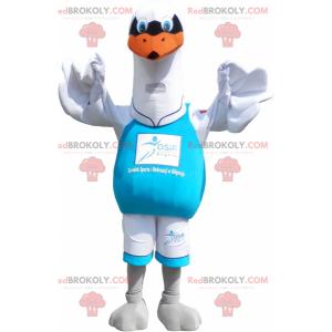 Maskot velký bílý racek. Ptačí kostým - Redbrokoly.com