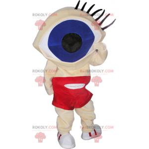 Maskot sněhuláka s obrovskou hlavou oka - Redbrokoly.com
