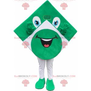 Green and white square mascot looking funny - Redbrokoly.com
