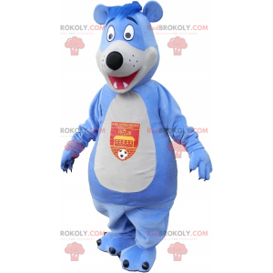 Velký maskot modrý a bílý medvěd - Redbrokoly.com