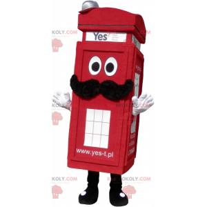 Prawdziwa londyńska czerwona budka telefoniczna maskotka -