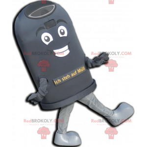 Giant black trash mascot. Dumpster mascot - Redbrokoly.com
