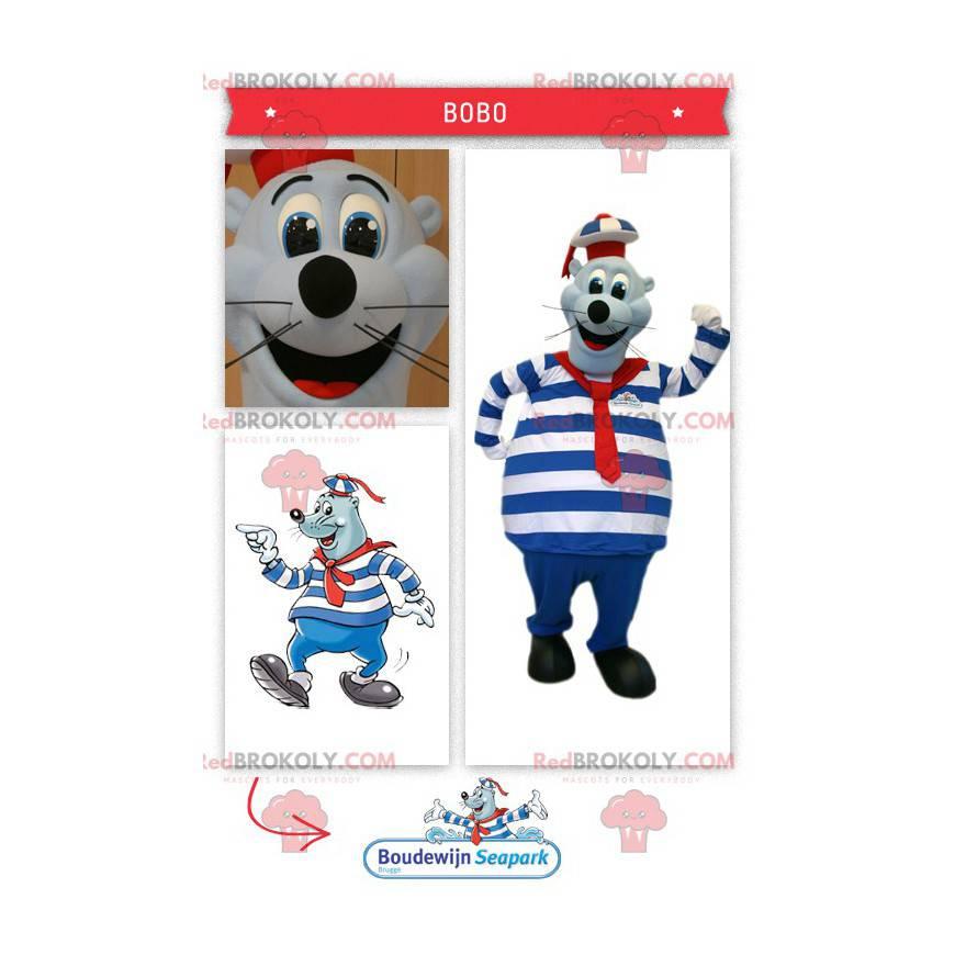 Seal sea lion mascot in sailor outfit - Redbrokoly.com