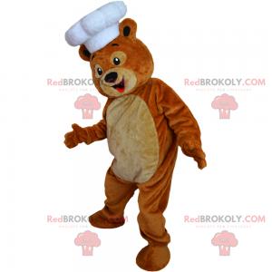 Maskot zvířat - medvídek kuchař - Redbrokoly.com