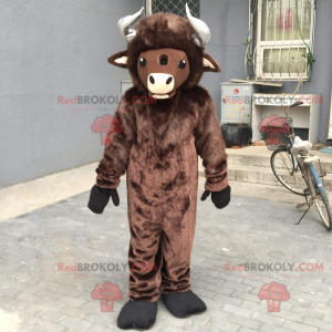 Nutztier Maskottchen - Buffalo - Redbrokoly.com