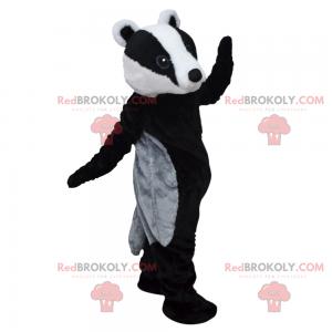 Mascote do animal da floresta - Castor com uma camisa azul -