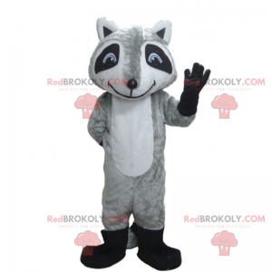 Mascote animal da floresta - guaxinim muito sorridente -