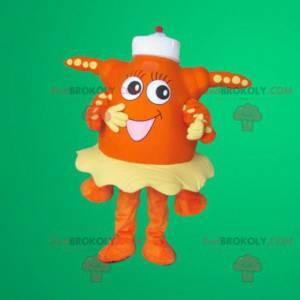 Mascote estrela do mar laranja - Redbrokoly.com