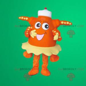 Orange starfish mascot - Redbrokoly.com