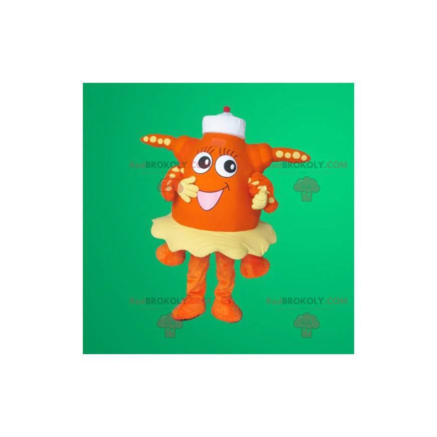 Orange Seestern Maskottchen - Redbrokoly.com