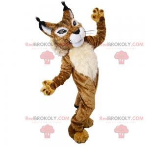 Savannah animal mascot - Two-colored lynx - Redbrokoly.com