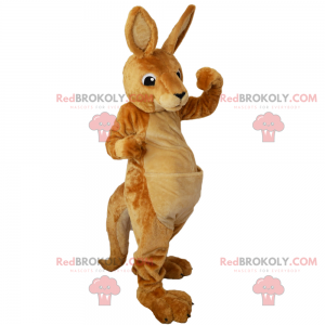 Wildtier-Maskottchen - Känguru mit Tasche - Redbrokoly.com
