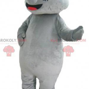 Giant and impressive gray rhino mascot - Redbrokoly.com