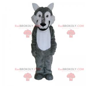 Maskotka dzikiego zwierzęcia - uśmiechnięty wilk -