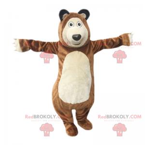 Maskot divokých zvířat - medvěd hnědý - Redbrokoly.com