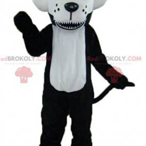 Maskot černobílý vlk s modrýma očima - Redbrokoly.com