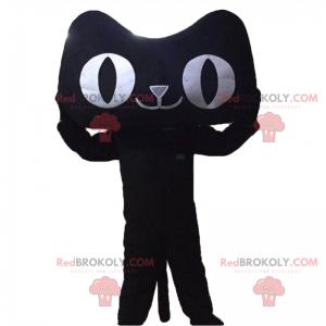 Maskot velké oči kočka - Redbrokoly.com