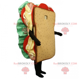 Club sendvič maskot - Redbrokoly.com