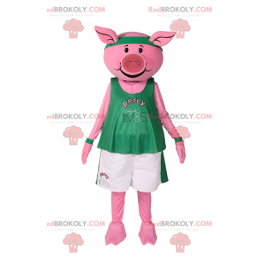 Maskot prasete ve sportovním oblečení - Redbrokoly.com