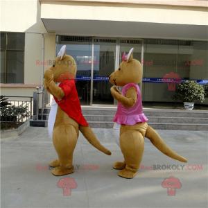 Känguru-Paar-Maskottchen - Redbrokoly.com