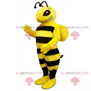 Mascota de abeja rayada grande - Redbrokoly.com