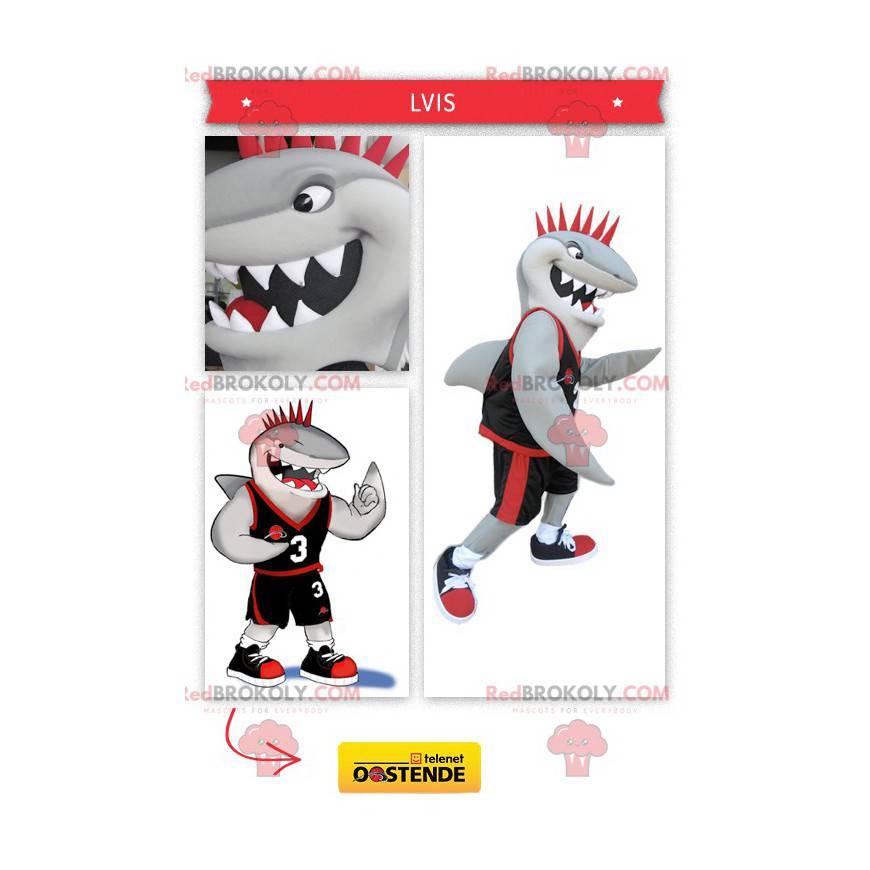 Sportovní žralok maskot - Redbrokoly.com
