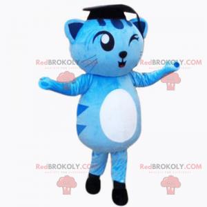 Urocza maskotka kotek - ceremonia ukończenia szkoły -