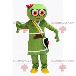 Mimozemský maskot s šaty a taška na srdce - Redbrokoly.com