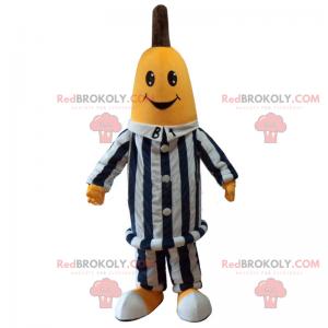 Banana mascot in prisoner outfit - Redbrokoly.com