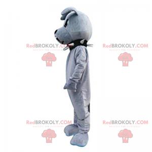 Buldog maskotka z czarnym kołnierzem - Redbrokoly.com