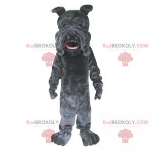 Black bulldog mascot - Redbrokoly.com