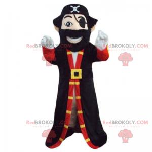 Pirat kaptajn maskot - Redbrokoly.com