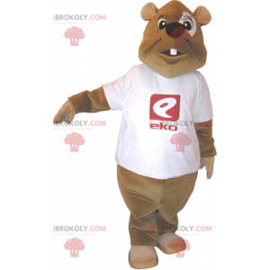 Bobr maskot s tričkem - Redbrokoly.com