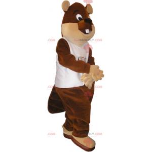 Mascote castor de olhos grandes - Redbrokoly.com