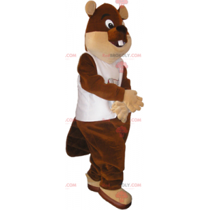 Maskot bobra velké oči - Redbrokoly.com
