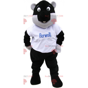 Czarna maskotka bobra - Redbrokoly.com