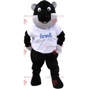Mascotte zwarte bever - Redbrokoly.com
