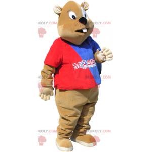 Torcedor do mascote castor - Redbrokoly.com