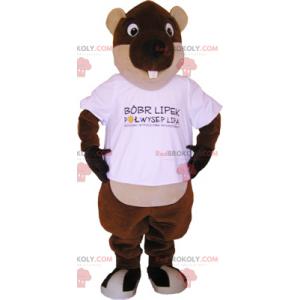 Mascote de castor de olhos redondos - Redbrokoly.com