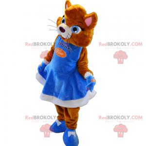 Maskot kočka s šaty - Redbrokoly.com