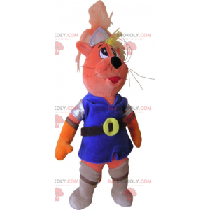 Cat mascot in knight outfit - Redbrokoly.com