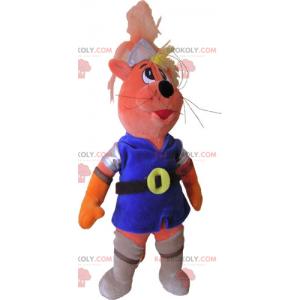Maskot kočka v rytířské oblečení - Redbrokoly.com
