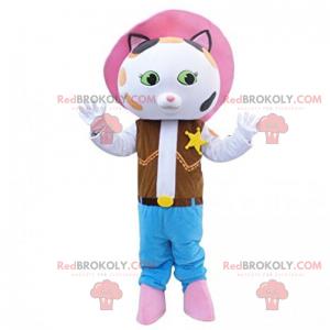 Kočka maskot kovbojské oblečení - Redbrokoly.com