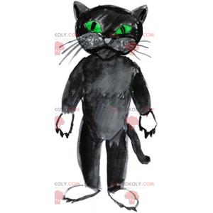 Černá kočka maskot - Redbrokoly.com