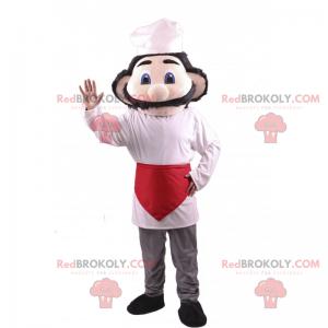 Maskot kuchař s velkým knírem - Redbrokoly.com