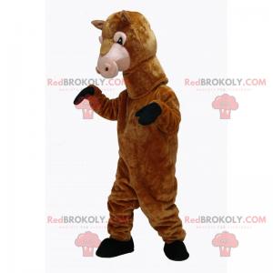 Hnědý kůň maskot - Redbrokoly.com